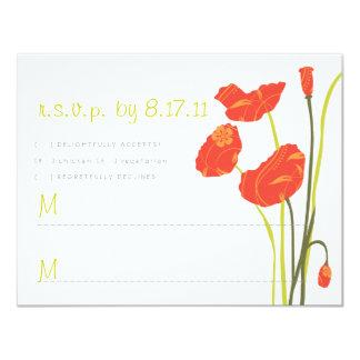 Pretty Poppies RSVP Card