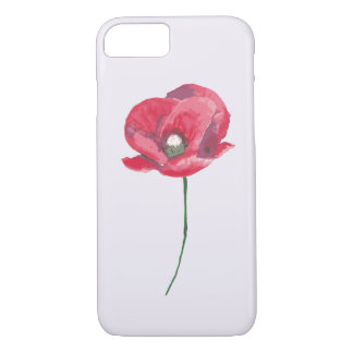 Pretty Poppy lavender iPhone case