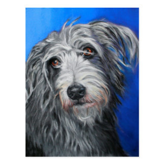 'Pretty Poppy' - Lurcher girl Postcard