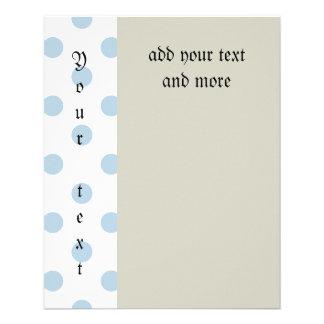 pretty,powder blue,polka dot,white,girly,trendy, full color flyer