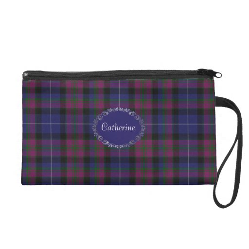 Pretty Pride of Scotland Tartan Plaid Wristlet Purse
