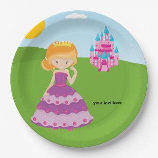 Pretty Princess 9 Inch Paper Plate
