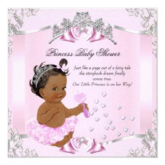 Pretty Princess Baby Shower Pink Tutu Ethnic 13 Cm X 13 Cm Square Invitation Card