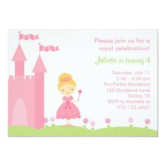 "Pretty Princess Birthday Invitation 5"" X 7"" Invitation Card"