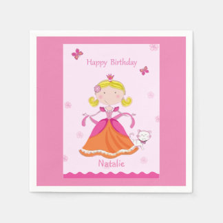 Pretty Princess Birthday Paper Serviettes