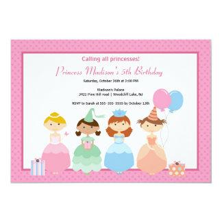 "Pretty Princess Birthday Party Invitation 5"" X 7"" Invitation Card"