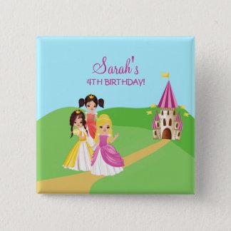Pretty Princess Girls Birthday Button