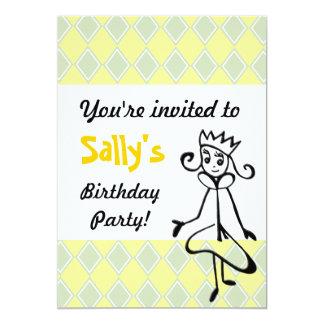 Pretty Princess Invitation (in green)