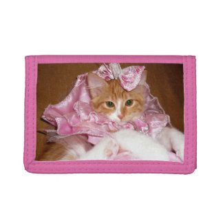Pretty Princess Kitten Pink Trifold Wallet