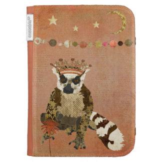 Pretty Princess Lemur Pink Moonlight Caseable Case Kindle Folio Case
