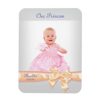 Pretty Princess Peach Ribbon Bow Frame Magnet