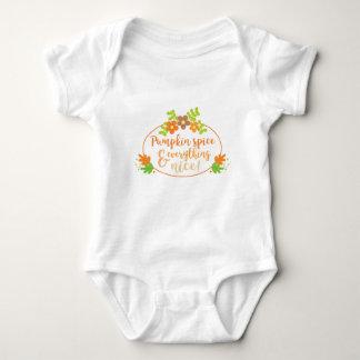 Pretty Pumpkin Spice Orange and Green Baby Bodysuit