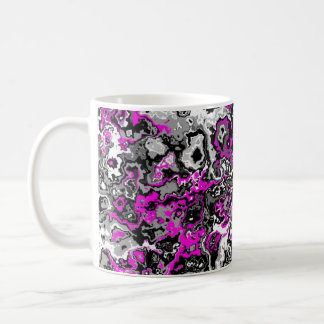 Pretty Punk Grey and Pink Designer Mug