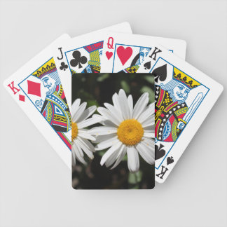 Pretty pure white daisy flowers bicycle playing cards