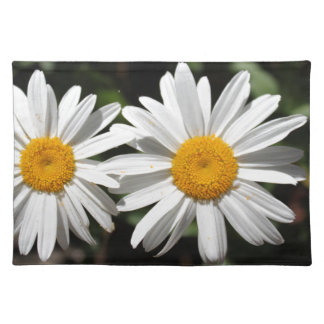 Pretty pure white daisy flowers placemat