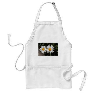 Pretty pure white daisy flowers standard apron