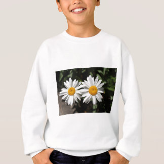 Pretty pure white daisy flowers sweatshirt