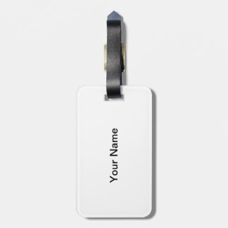 Pretty pure white Easter lily flower in black Luggage Tag