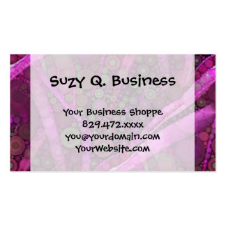 Pretty Purple Abstract Concentric Circles Mosaic Business Card