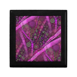 Pretty Purple Abstract Concentric Circles Mosaic Small Square Gift Box