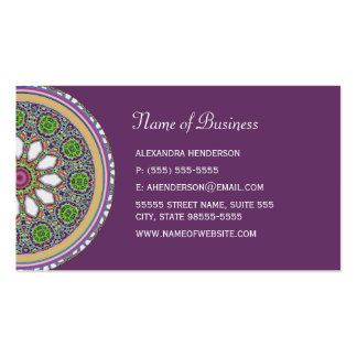 Pretty Purple and White Daisy Flower Tile Mosaic Business Card Template