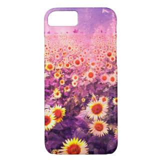 Pretty Purple and Yellow Sunflower Field Case