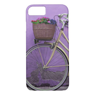 Pretty Purple Bike Flower Basket iPhone 7 Case