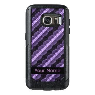 Pretty Purple Black Abstract Pattern OtterBox Samsung Galaxy S7 Case