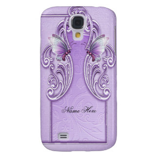 Pretty Purple Butterfly Lavender Lilac Samsung Galaxy S4 Cover