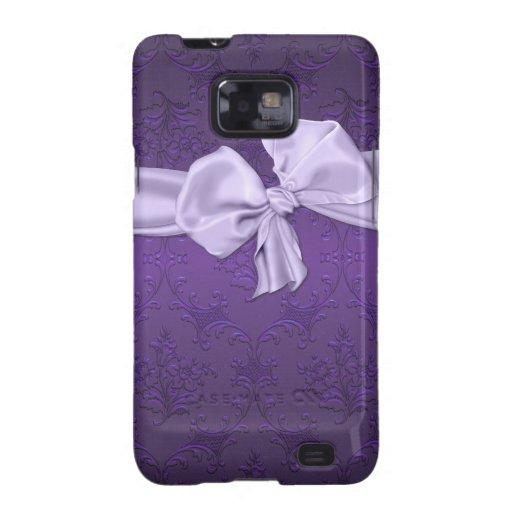Pretty Purple Damask Samsung Galaxy Phone Case Samsung Galaxy S Case