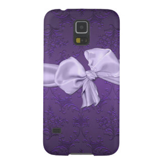 Pretty Purple Damask Samsung Galaxy S5 Phone Case