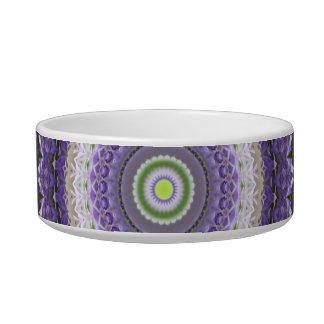 Pretty Purple Floral Kaleidoscope Design Pet Bowl