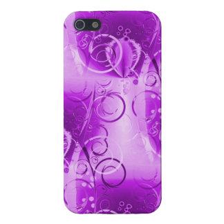 Pretty Purple Floral Vine Pattern iPhone 5 Cases