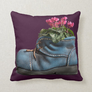 Pretty purple flower boot pillow