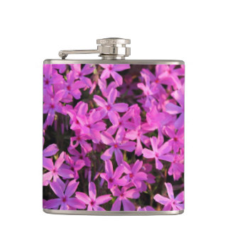 Pretty Purple Flower Flask