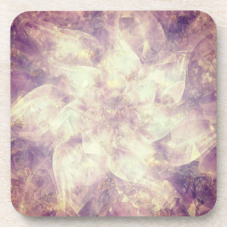 Pretty Purple Flower Mandala Coaster