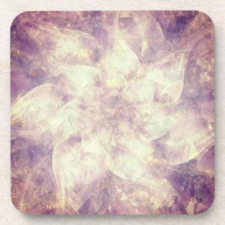 Pretty Purple Flower Mandala Drink Coasters