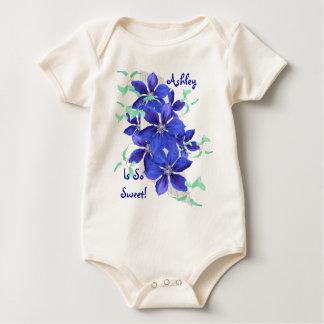 Pretty Purple Flowers Baby Creeper