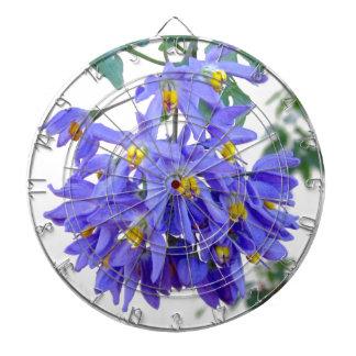 Pretty Purple Flowers Dartboard