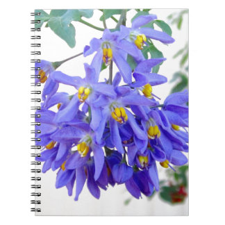 Pretty Purple Flowers Note Book