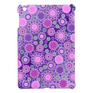Pretty Purple Flowers Pattern iPad Mini Cover