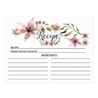 Pretty Purple Flowers Recipe Card