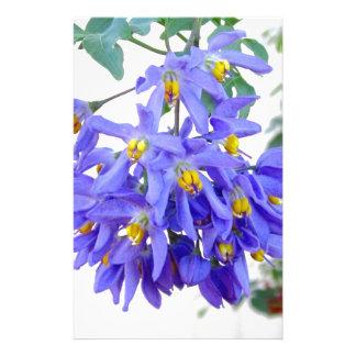 Pretty Purple Flowers Custom Stationery