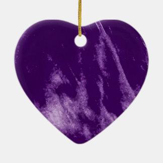 PRETTY PURPLE HEART ORN CERAMIC HEART DECORATION