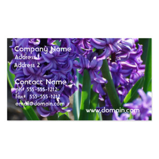 Pretty Purple Hyacinth Business Card Template