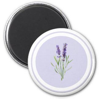 Pretty Purple Lavender Flowers Magnet