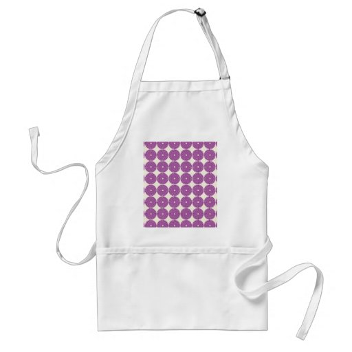 Pretty Purple Lilac Circles Disks Textured Buttons Aprons
