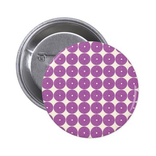 Pretty Purple Lilac Circles Disks Textured Buttons