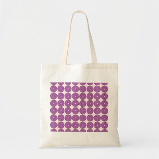 Pretty Purple Lilac Circles Disks Textured Buttons Tote Bags