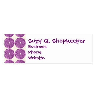 Pretty Purple Lilac Circles Disks Textured Buttons Business Card Templates
